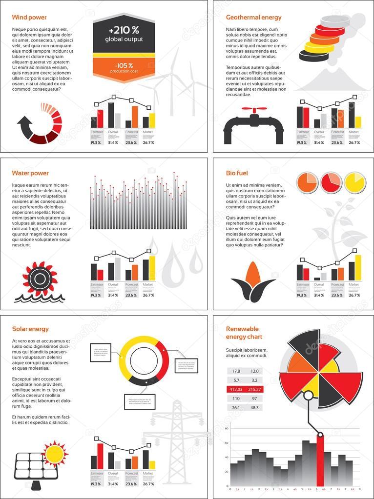 erneuerbare Energien-Diagramme — Stockvektor © gdas #40501319