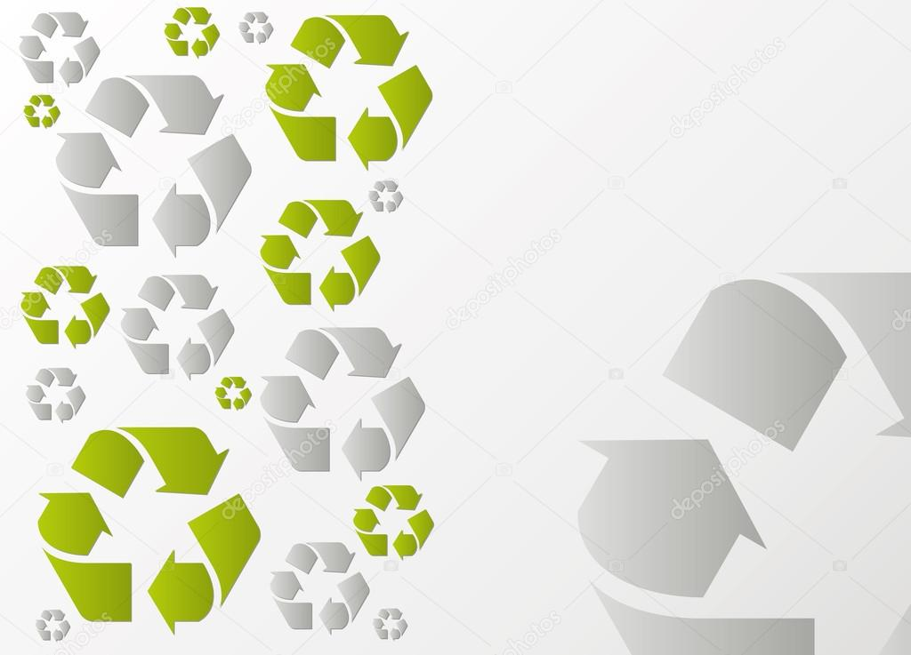Ecology recycling vector background pattern