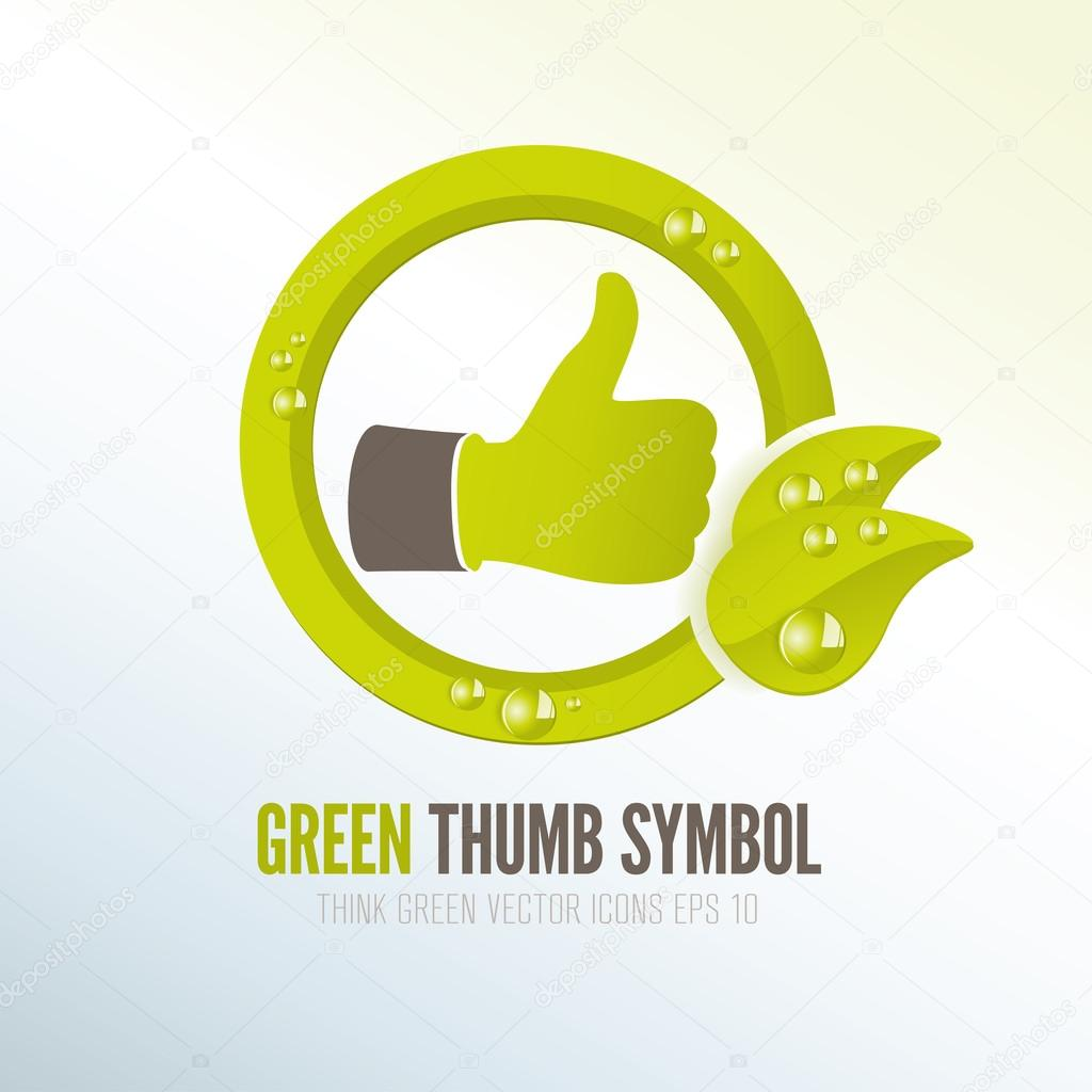 Green thumb icon for eco-friendly products