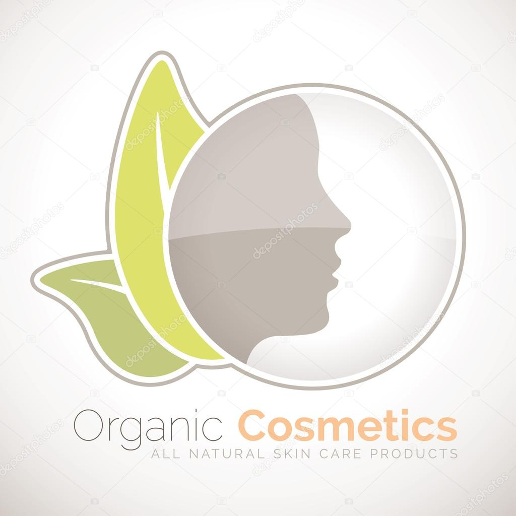 Organic cosmetics symbol for all natural skin care products organic cosmetics symbol for all natural skin care products stock vector biocorpaavc Gallery