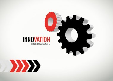 Innovation vector graphics for infographics