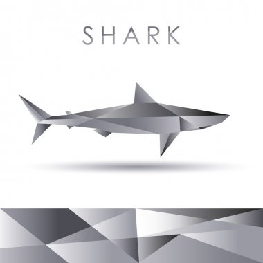 Shark abstract vector portrayal
