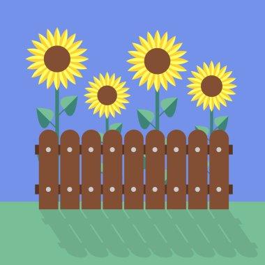 Sunflowers flat design