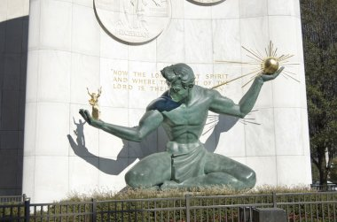 Spirit Of Detroit Statue