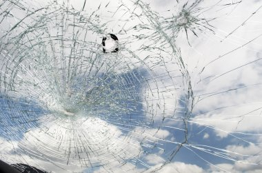 Shattered Windshield From Inside Vehicle