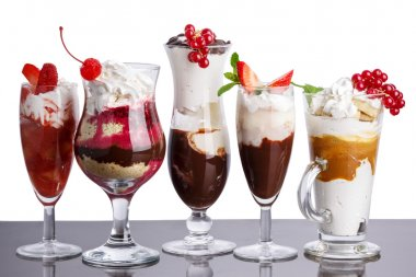 Parfait - layered desserts