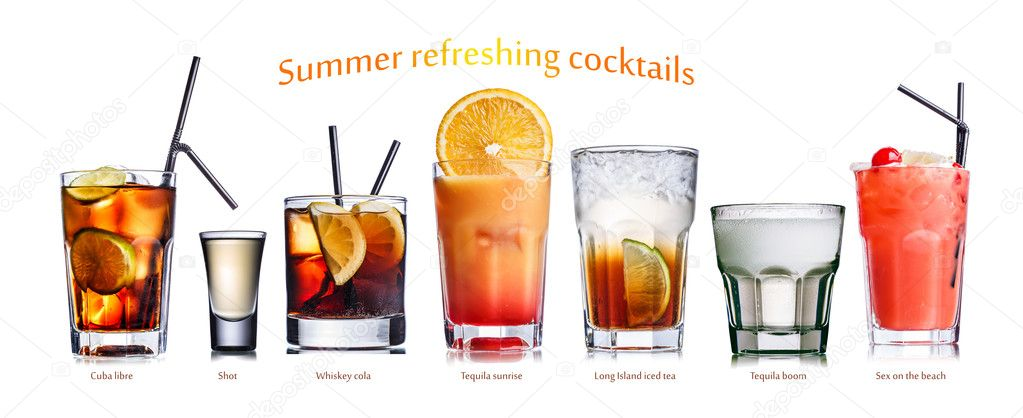 Summer refreshing cocktails