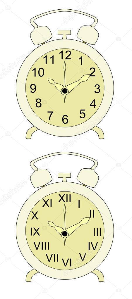 antiguo reloj despertador — Archivo Imágenes Vectoriales © nattul ...
