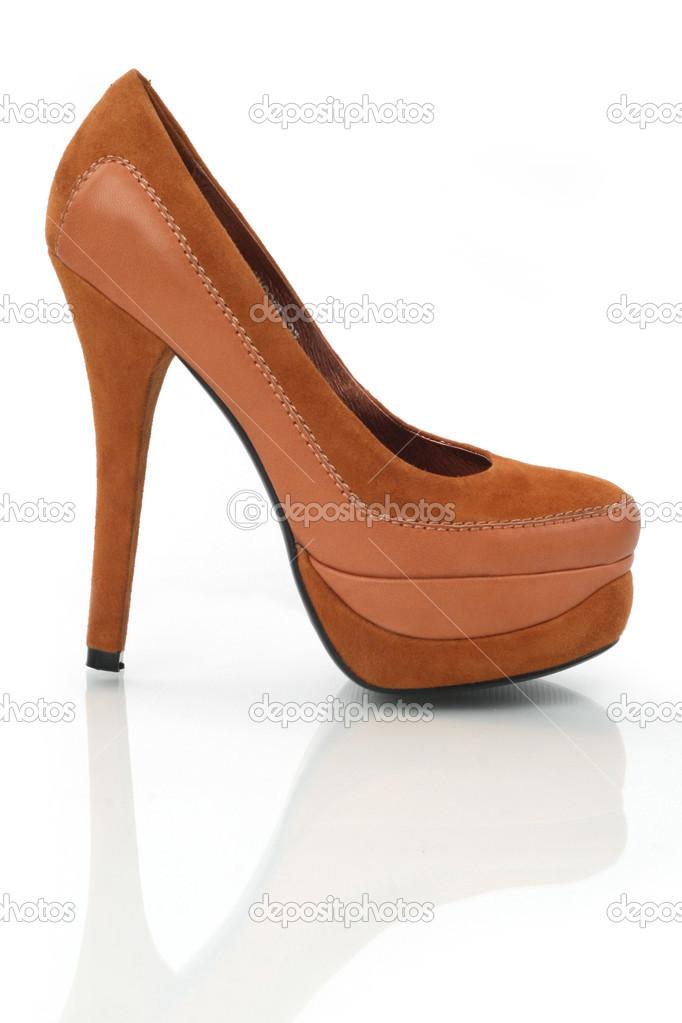 disponible moda de lujo nuevo autentico Tacones marrones — Foto de stock © Nyvlt_art #43933967