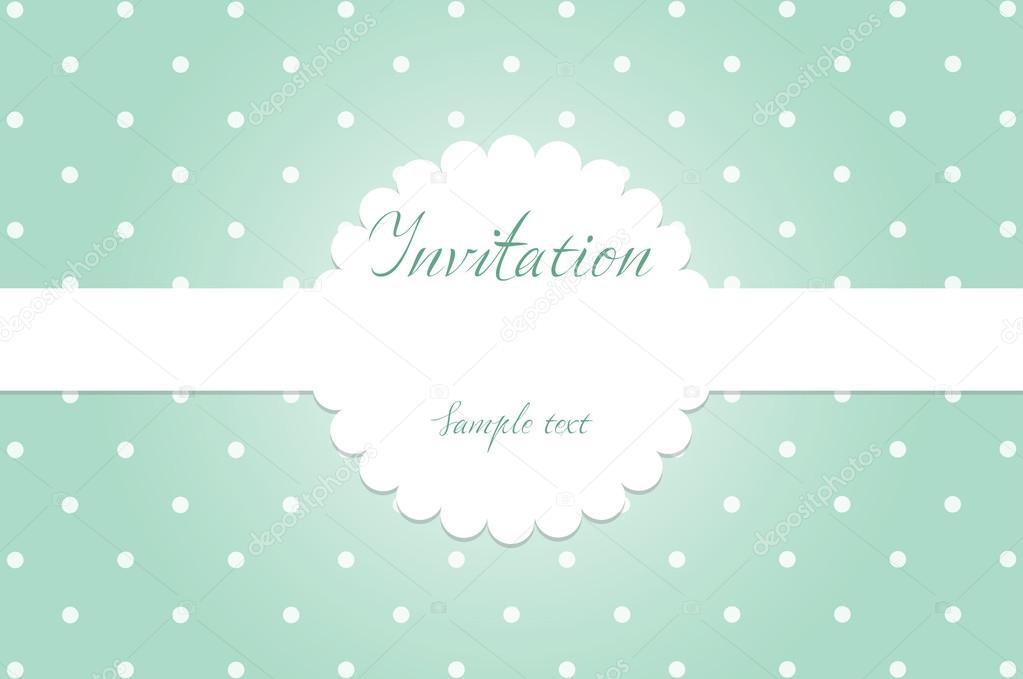 Invitation Greeting Card Birthday Card Vector Eps10