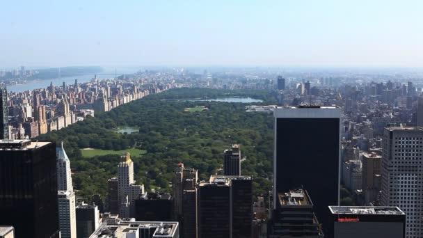 Letecký pohled na central Park, new york