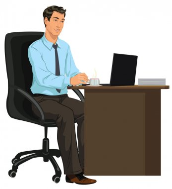 Man at the Desk with laptop