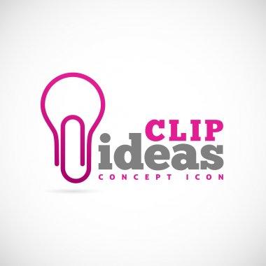Clip ideas concept symbol icon