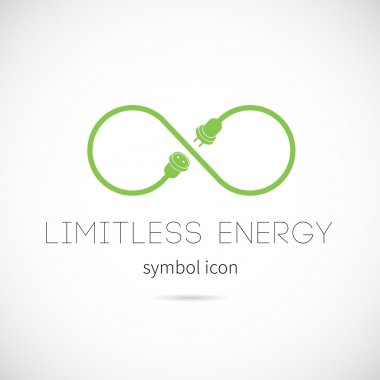 Limitless energy vector symbol icon