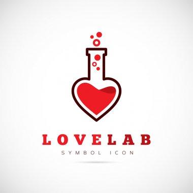 Love laboratory symbol icon
