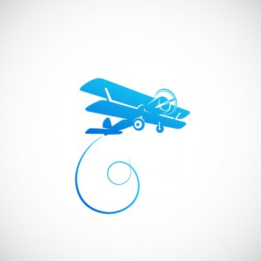 Vintage plane logo template stock vector