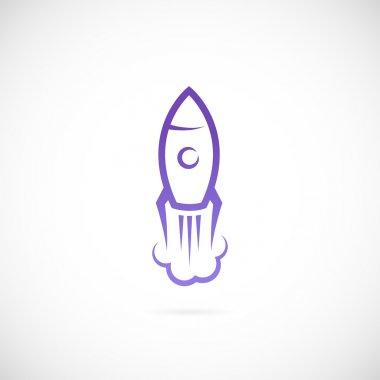 Vector rocket symbol icon stock vector