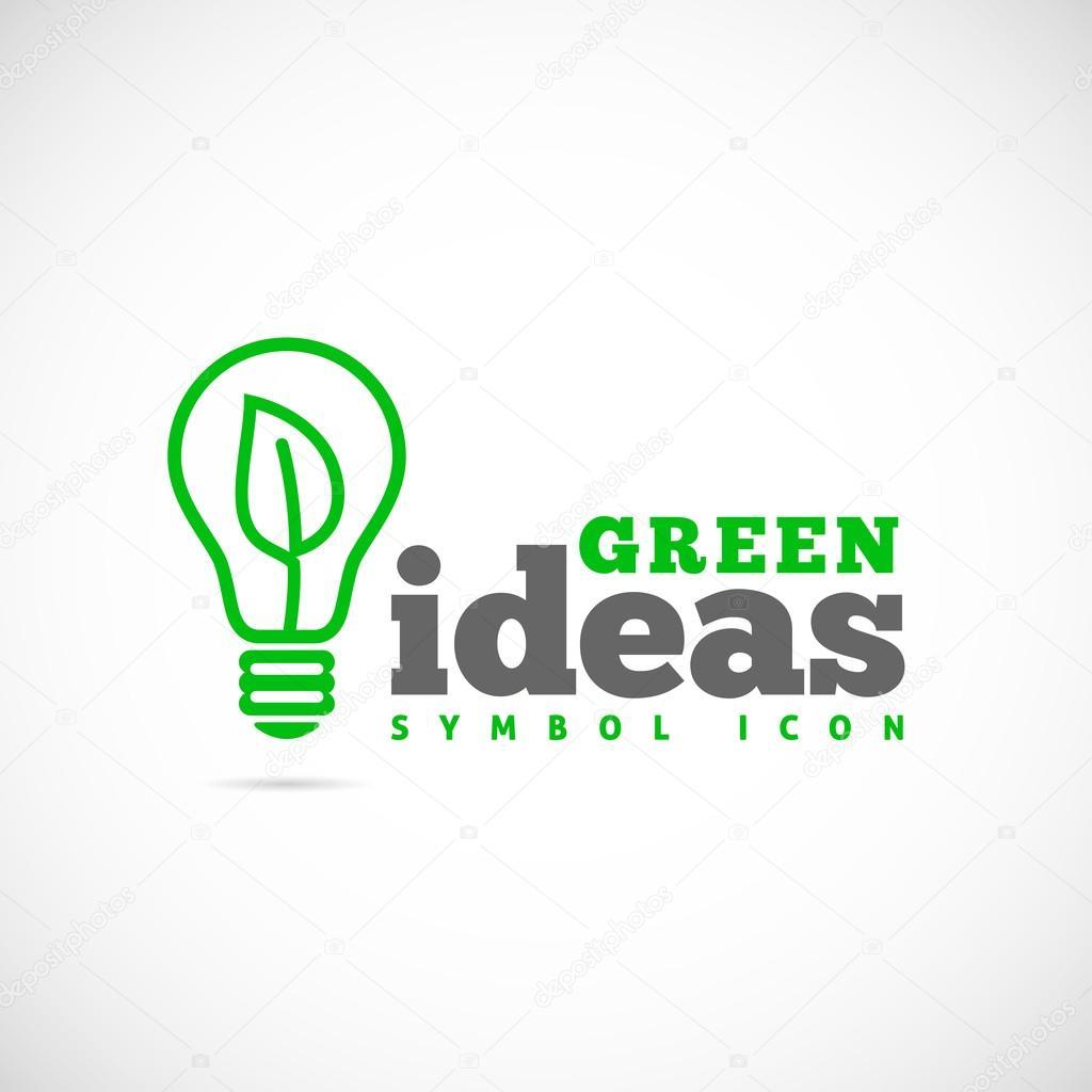 Green ideas logo template