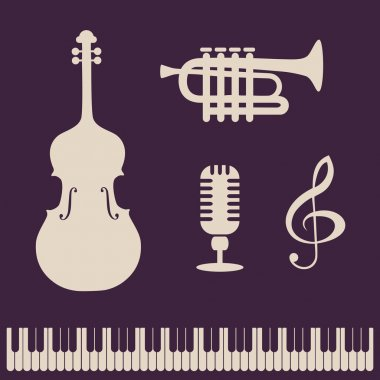 Abstract background with musical instruments