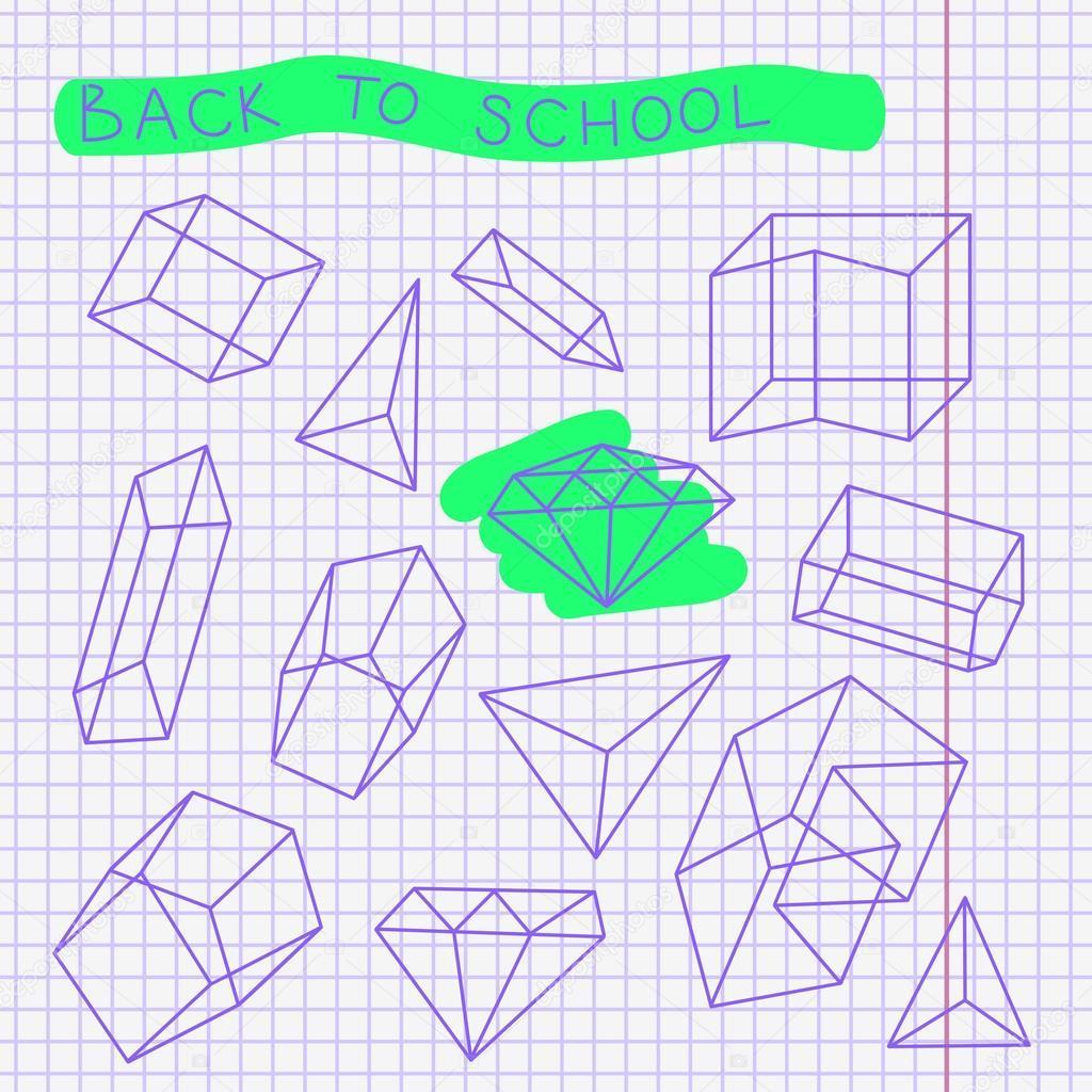 Dibujos Para Cuadernos Cuadriculados Boceto Dibujado Mano En