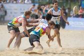 Hong kong, Čína - 22-23 březen 2014: pláž 5 2014 je čtvrtým rokem běží a stát se stěžejním tématem hong kong roční sportovní krajiny. akce je zdarma a přátelská rodině