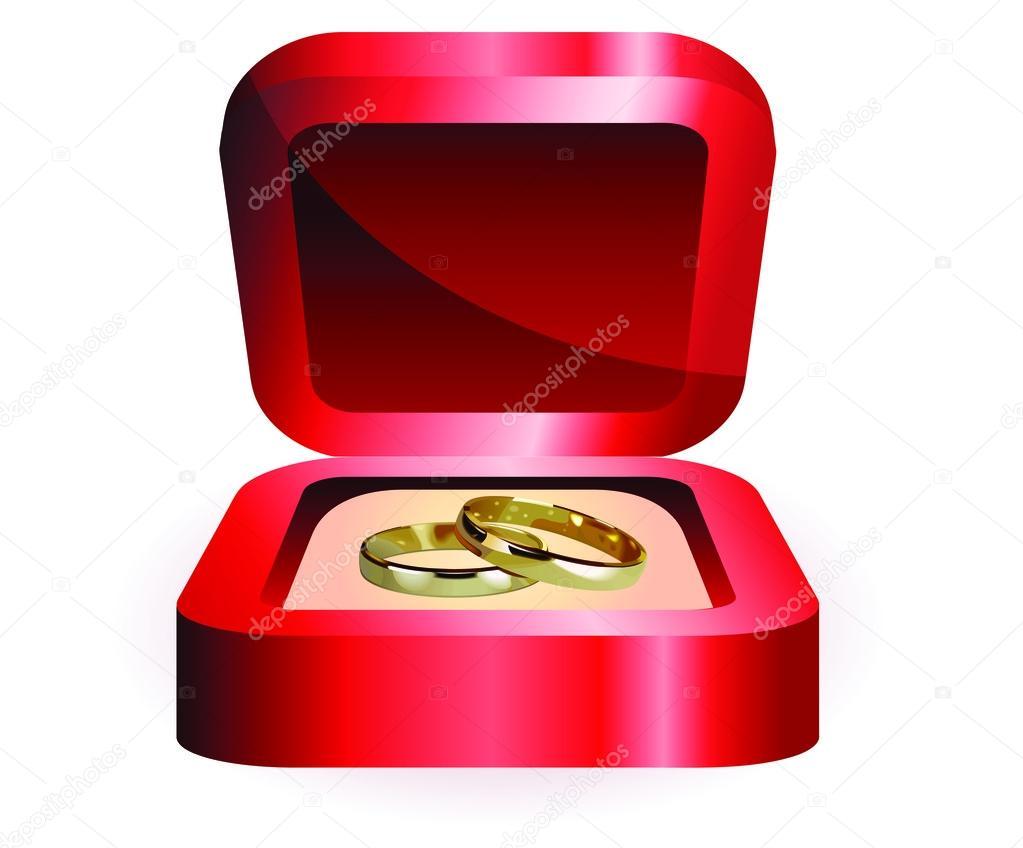 une paire de bagues de mariage or image vectorielle amino10 41425427. Black Bedroom Furniture Sets. Home Design Ideas
