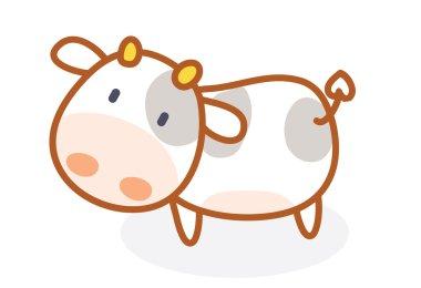 Cute cow cartoon posing