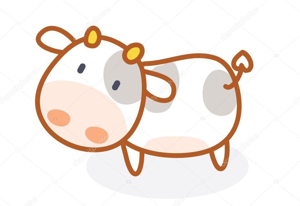 Imagenes Vacas Animadas: Vaca Cute Dibujos Animados Posando