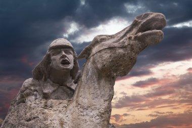 Monument to the first Komsomol members at sunset, Pyatigorsk, Ru