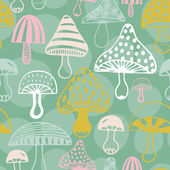 Photo Pattern with decorative mushrooms