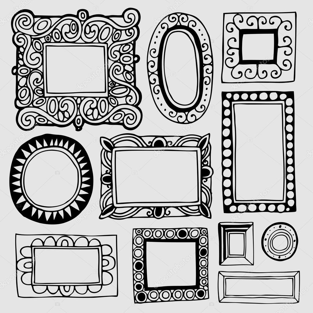 Vintage picture frames and photo frames stock vector - Marcos de cuadros vintage ...