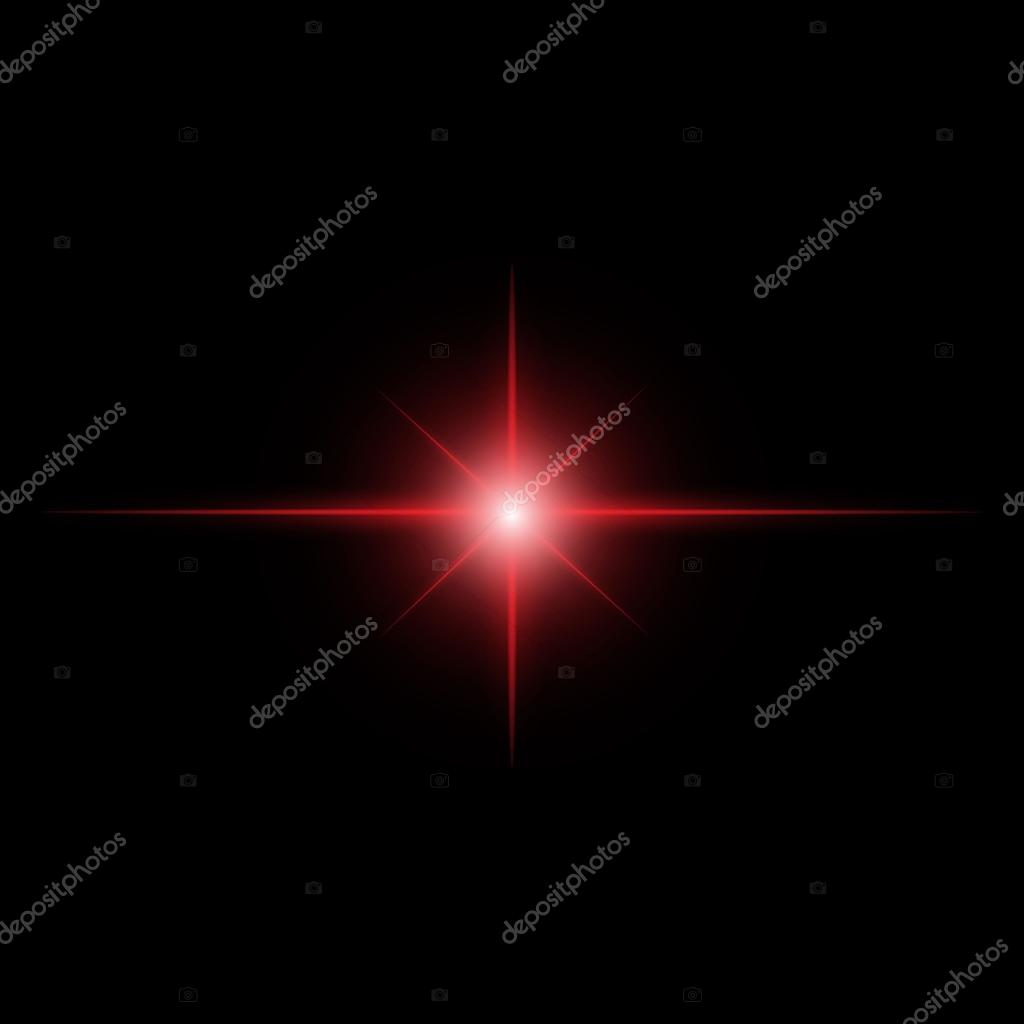 red Star burst  light beam vector