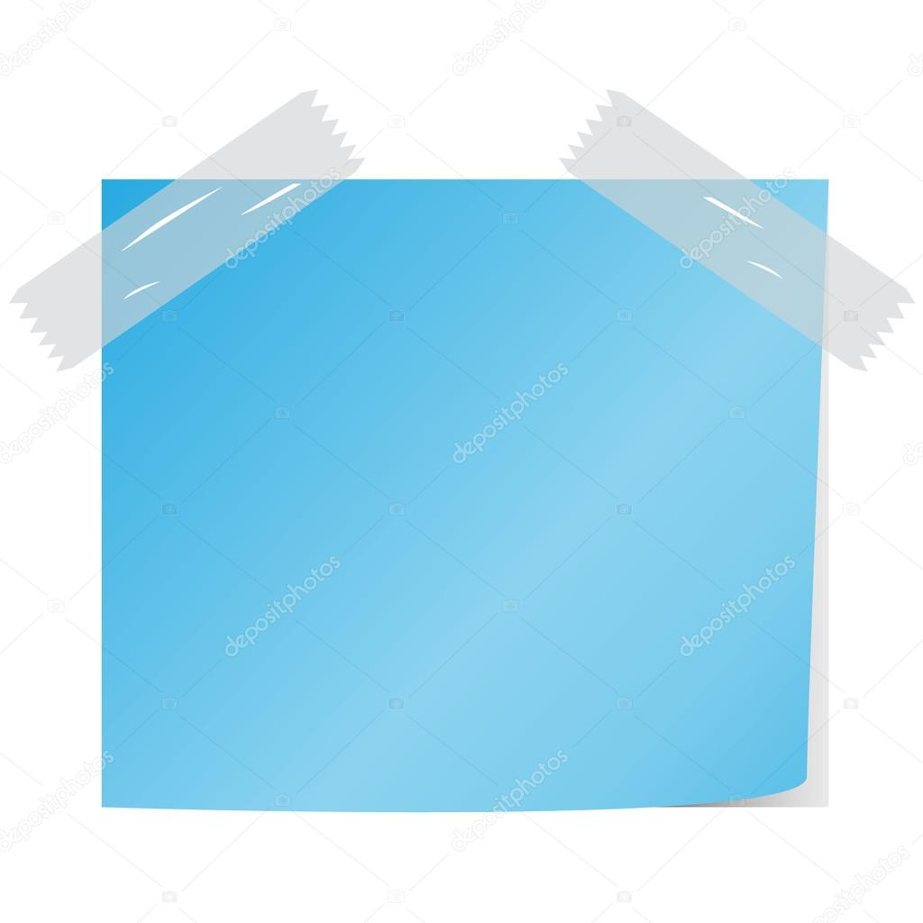 blank blue color  post it vector