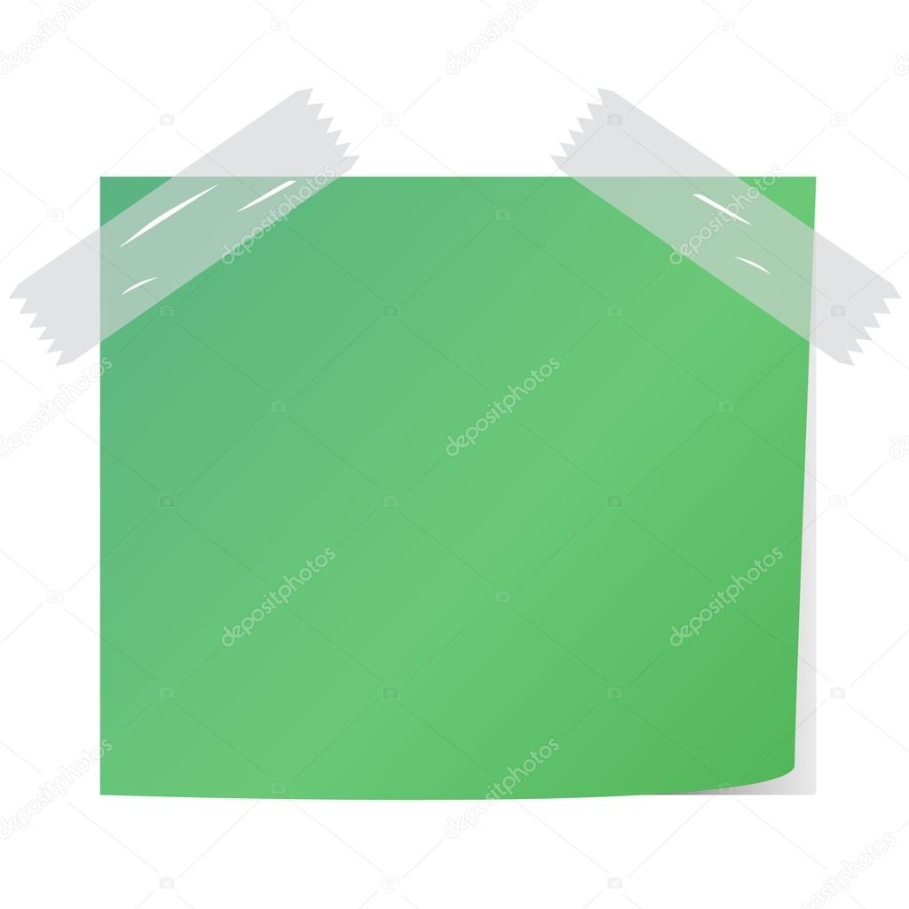 blank green color post it vector — Stock Vector © payungkead #51572865