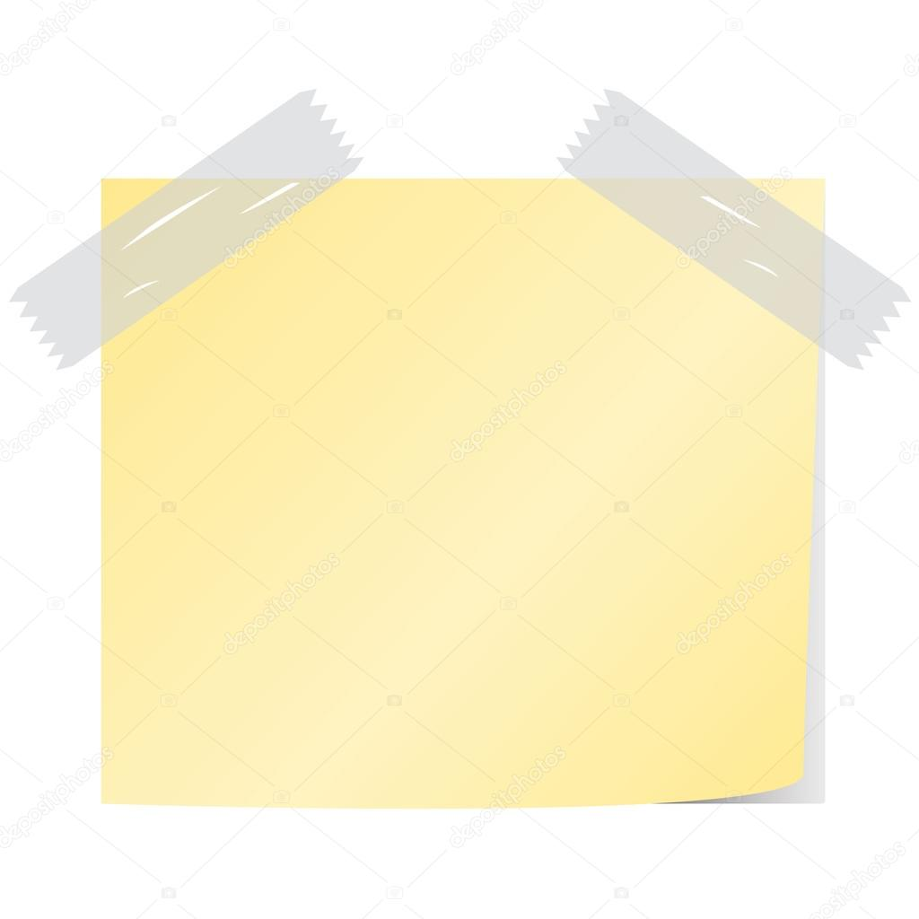 blank yellow color post it vector