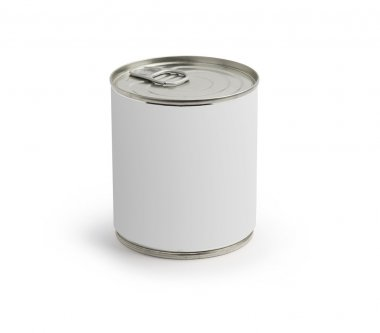 Can with blank white label