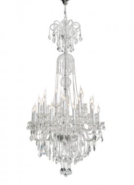 Luxury Glass Chandelier on white background - Clipping Path Included