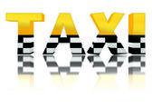 Fotografie 3D znak taxi