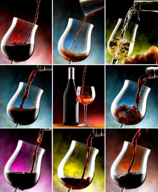 Composition of glasses of wine