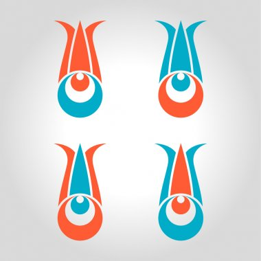 cintemani tulip logo, icon and symbol vector illustration