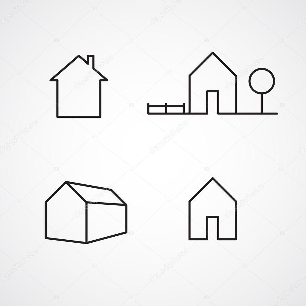 Modern House Icons Stock Vector Kovalto1 41255707