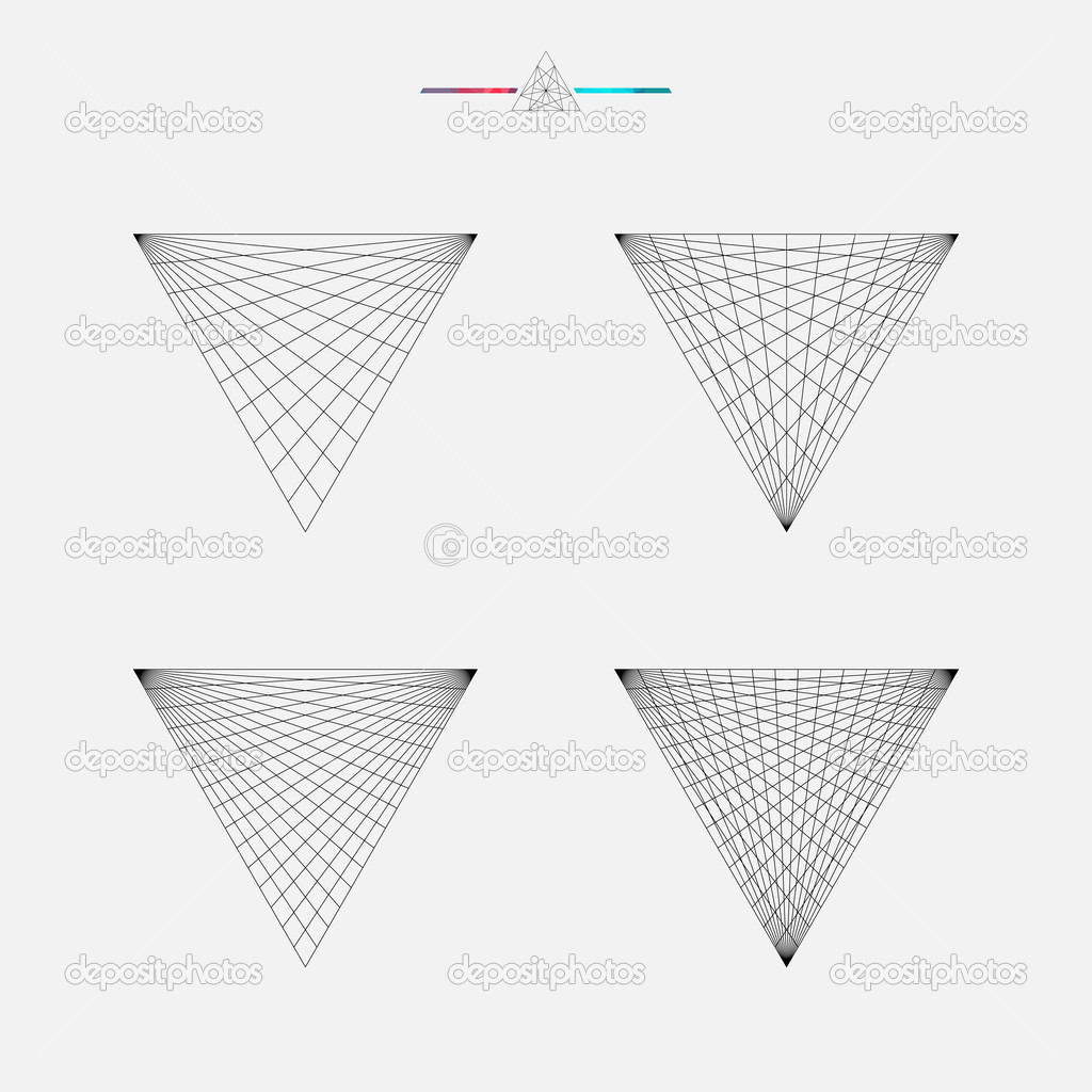 geometric drawing triangle design stock vector kovalto1 47630615
