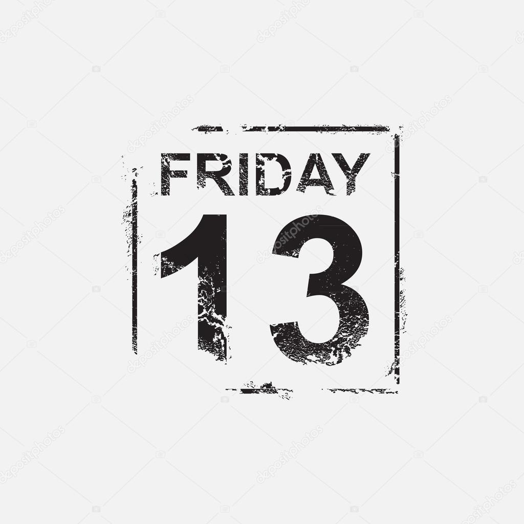 Friday 13th, grunge design — Stock Vector © kovalto1 #47630655 on friday cartoons, friday quotes, friday humor, friday 12th, friday text, friday meme, friday cat,