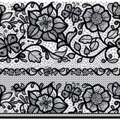 Fotografie Abstract seamless lace pattern with flowers and leaves.