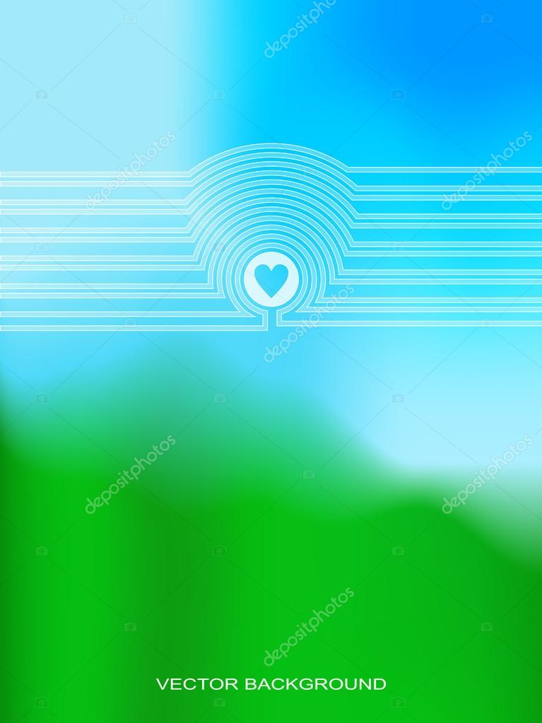 Vector Web and Mobile Interface Template.  Blurred Background. H
