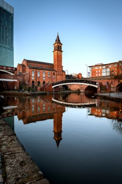 Chapel on Canals of Castlefield Manchester
