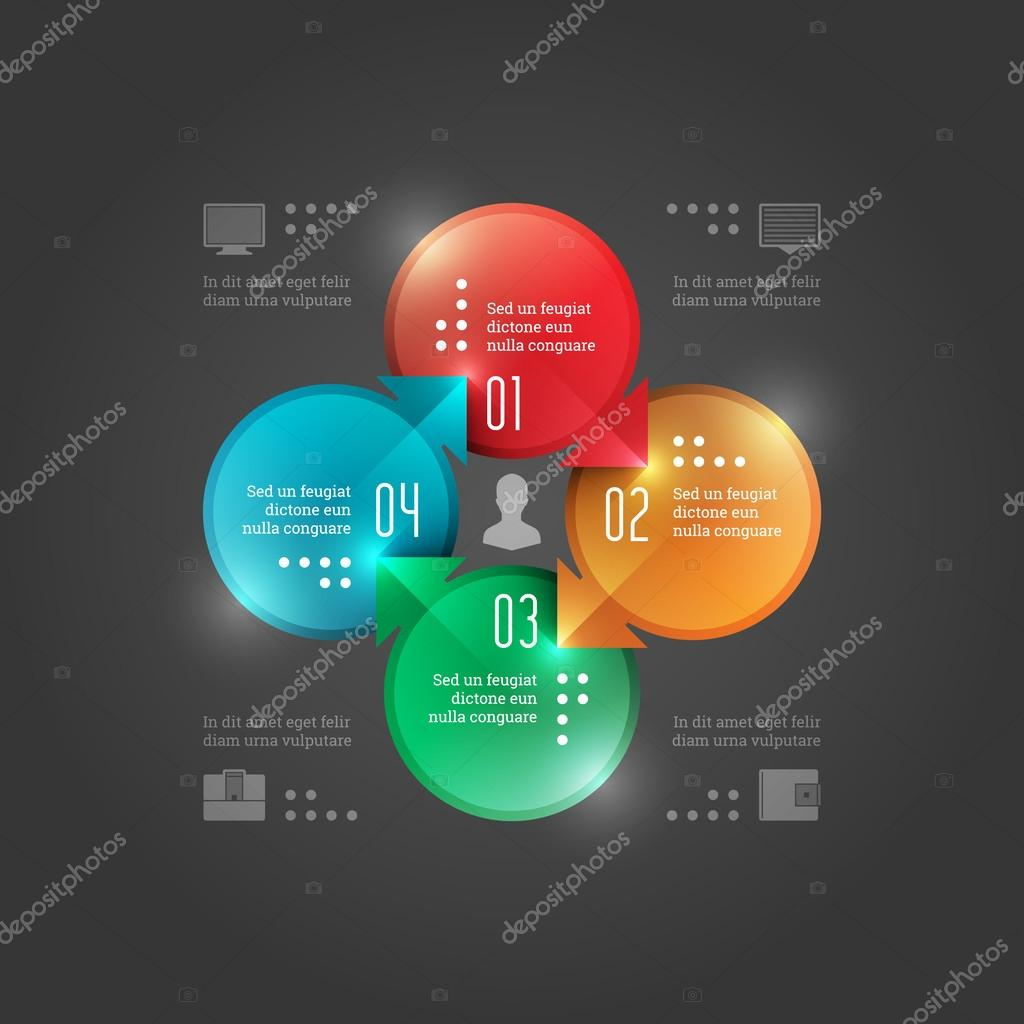 Modern Vector Infographics Template. Circles Diagram. Vector EPS10 Concept Illustration Design