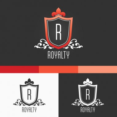 Royalty Crest Ornament Template. Modern Vector EPS10 Concept Illustration Design