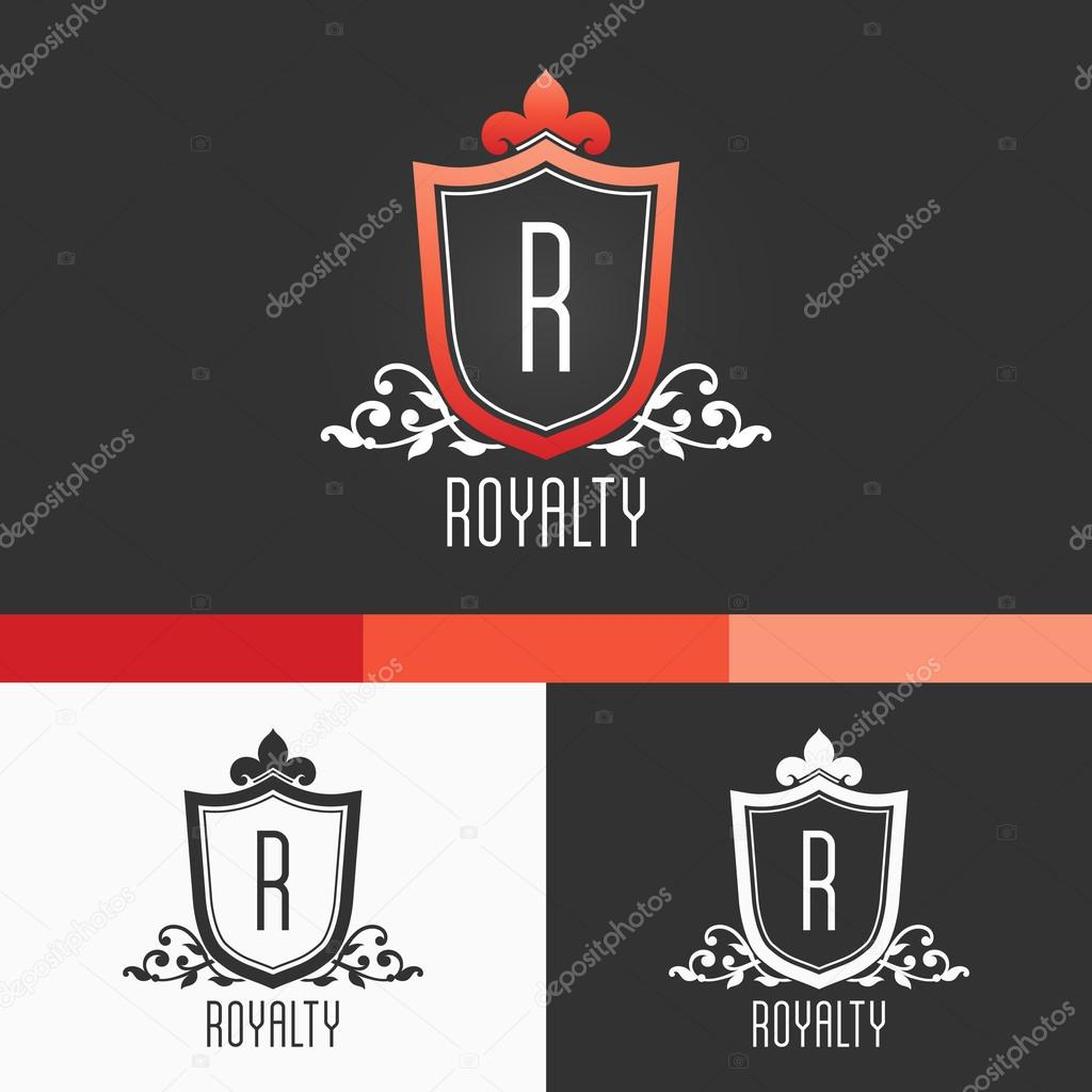 Royalty Crest Ornament Template. Modern Vector EPS10 Concept Illustration Design
