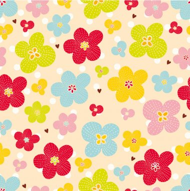 Decorative seamless pattern with bright colors